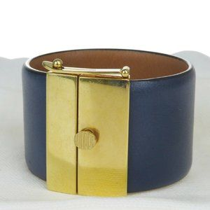 Celine Leather Bracelet Navy